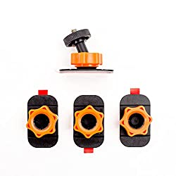 XSories Sticky Mounts Camera Adhesive Mounts with Ball Head for GoPro and Action Sports Cameras (Black/Orange)