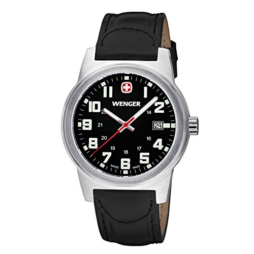Wenger-Mens-Classic-Field-Watch-with-Leather-Bracelet