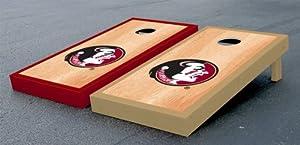 Florida State FSU Seminoles Cornhole Game Set Painted Hardcourt Version by Gameday Cornhole