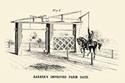 30 x 20 Stretched Canvas Poster Barber\'s Improved Farm Gate