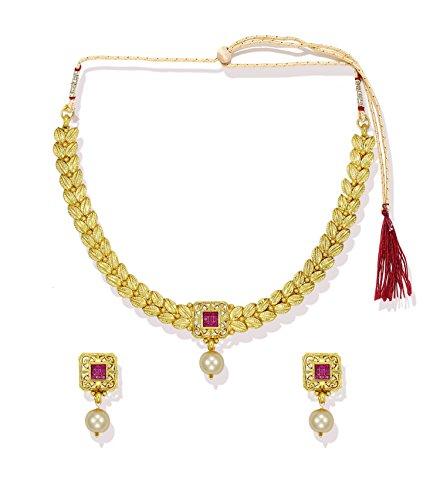 Zaveri Pearls leafy Ethnic Necklace Set – ZPFK5335
