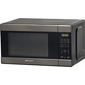 Emerson .7 Black Chrome Microwave