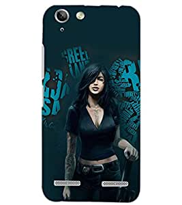 PrintDhaba RANGER GIRL D-6163 Back Case Cover for LENOVO A6020a46 (Multi-Coloured)