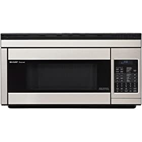 Sharp R-1874 1.1-Cubic-Foot 850-Watt Over-The-Range Convection Microwave, Stainless