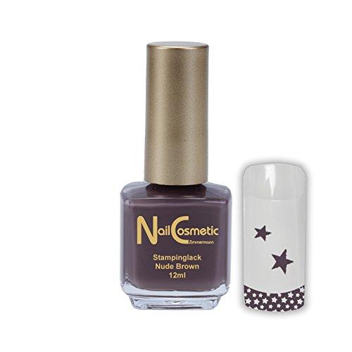 Stamping Lack Nude Braun / Stampinglack Nude Braun / Nagellack Nude Braun 12ml