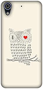 The Racoon Grip printed designer hard back mobile phone case cover for HTC Desire 626. (I Love you)