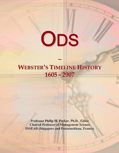 Ods: Webster's Timeline History, 1605 - 2007