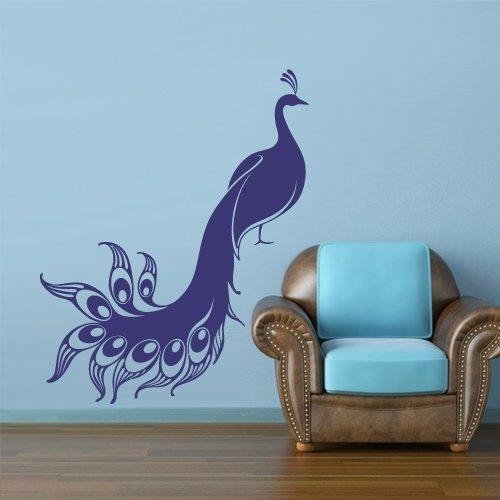 Wall Vinyl Sticker Decals Decor Art Bedroom Design Mural Peacock Bird Animal (Z3023) front-910975