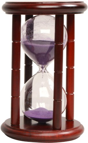 G.W. Schleidt 40015CH-P Sand Timer 15 Minute Purple Sand in Cherry Stand 6.5-Inch (Discontinued by Manufacturer)