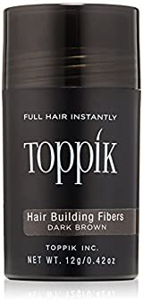 Toppik Hair Building Fibers, Dark Brown, 0.42oz/12g