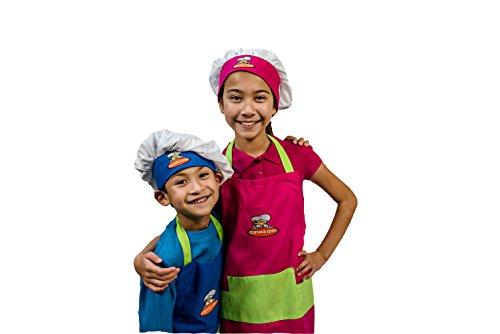 Curious-Chef-4-Piece-Child-Chef-Textile-Set-Blue-Green