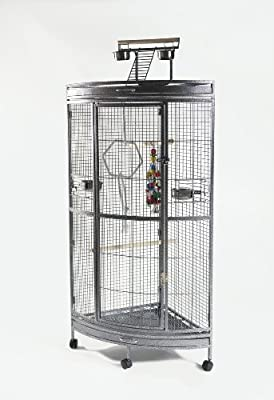 Parrot Paradise Corner Cage Wrought Iron African Grey Brand New