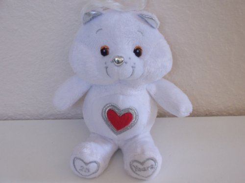 Care Bears 25 Years of Caring Bear (Silver Anniversary Collectible Plush Bean Bag) - 1