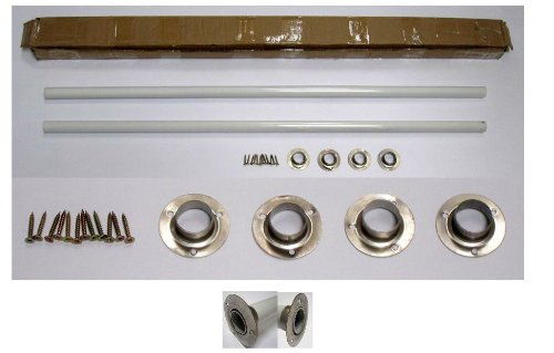 ALFI brand ABUMSB Undermount Farm Sink Installation Kit with  39-Inch White Metal Rods