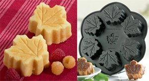 NordicWare 6-c. Nonstick Platinum Series Maple Leaf Muffin Pan