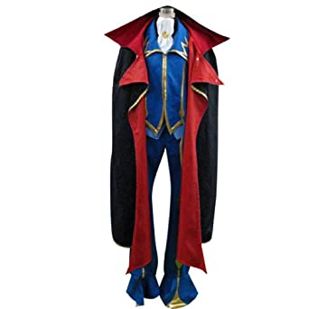 Code Geass Lelouch of the Rebellion Cosplay Costume - ZERO 2nd X-Large