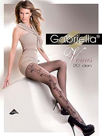 Gabriella Collants Séduisants avec Motif Côté GB 276 20 DEN (Beige, 2 (32-36))