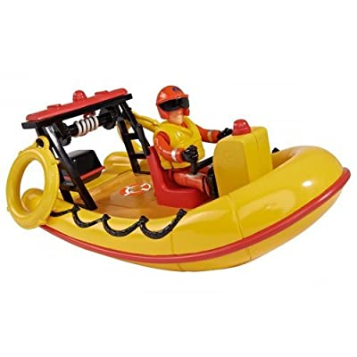 Simba 109251660 - Feuerwehrmann Sam Neptune Boot mit Figur