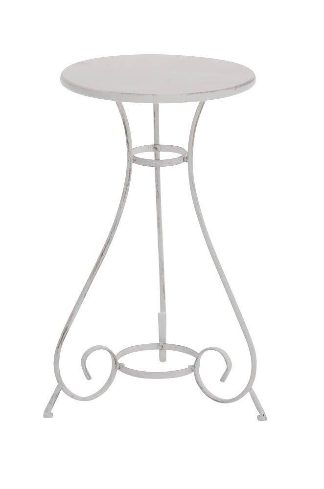CLP runder Eisen-Teetisch ALAN, Durchmesser Ø 40 cm, im nostalgischen Design, bis zu 6 Farben wählbar antik weiß kaufen
