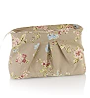 Vintage Inspired Floral Cosmetic Bag