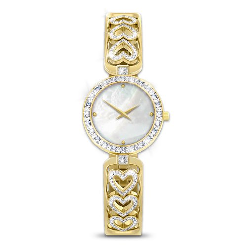 Love Always Diamond Heart Women's Watch by The Bradford Exchange