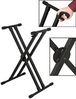 On Stage Stands Ergo-Lok Double-X Lok-Tight Keyboard Stand