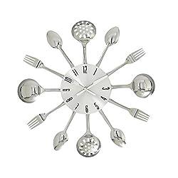 Deco 79 66985 Fabulous Metal Kitchen Wall Clock, 15 D