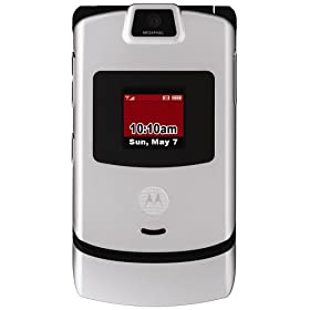 Motorola RAZR V3m Silver Phone (Verizon Wireless)