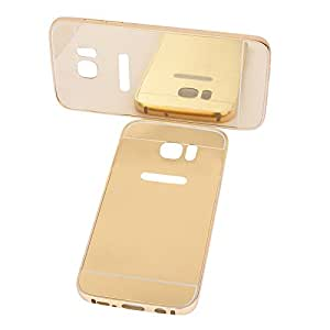 nCase Back Cover Mirror for Samsung Galaxy S7 - ( Gold)