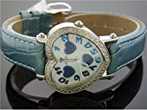 Swiss Aqua Master Lady One Heart 0.50ct Diamond White Face Watch