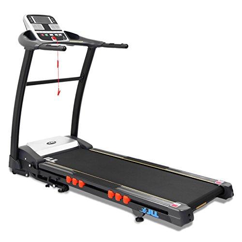 JLL S400 Premium motorised folding treadmill with digital motor technology, Two men...
