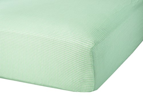 Abstract Baby Fitted Gingham Crib Sheet (28 X 52, Green)