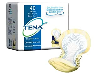 Tena Day-Plus Pads (Yellow), Case/80 (2 bags of 40)