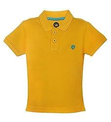 Vitamins Baby Boys' T-Shirt (08Tb-704-1-Mango_Yellow_1 - 2 Years)