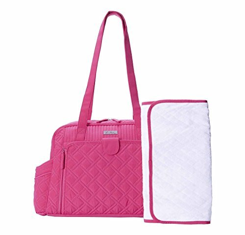 Vera Bradley Make A Change Baby Fuchsia Pink Diaper Bag Carrier Tote - 1
