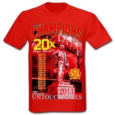 Man Utd 2013 Premier Champions T-Shirt