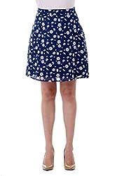 Bonhomie Women Skirts [BCQSB29_Navy Print_Medium]