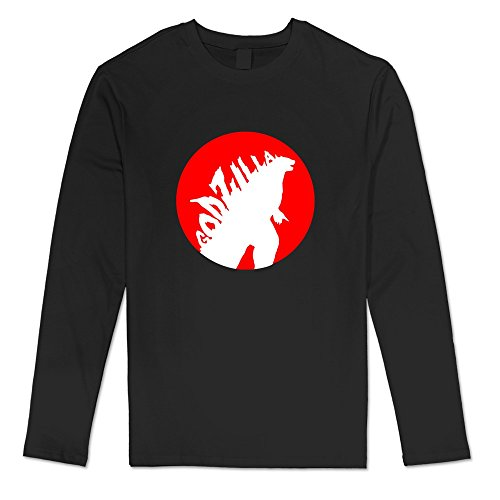[AOPO Men's Long Sleeve Godzilla Tee Shirts XX-Large Black] (Anguirus Costume)
