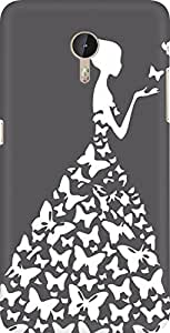 AMEZ designer printed 3d premium high quality back case cover for LeEco?Le Max Pro (grey white girl princess)