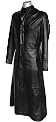 Matrix Coat - Black Leather Trench Jacket
