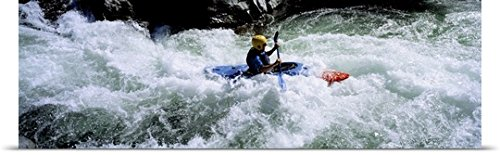 Poster Print entitled Kayaker Trinity River CA (Trinity River Ca compare prices)
