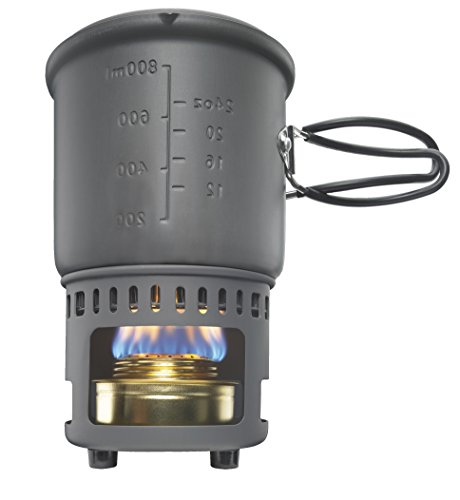 Learn More About Esbit CS985H-EX Cookset with Alcohol Burner and 985ml Pot with Heat Exchanger