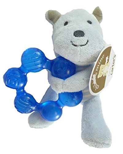 Carter's Child of Mine Plush Blue Bear with Water Filled Teether - 1