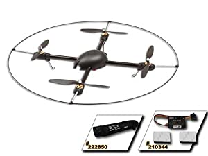 Gaui 500X Quadflyer Combo Kit W/scorpion Motors, Escs, Gu-344, Storage Bag and Protection Frame from Gaui (Empire Hobby)