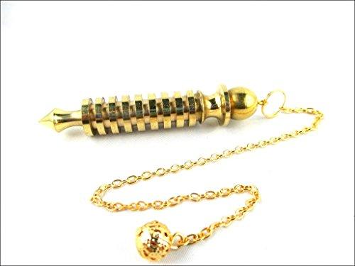 JET Quality 9 Plate Ring Brass Metal Isis Pendulum Healing Dowsing A++ Metaphysical