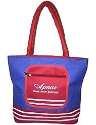 Apnav Blue-Red Waterproof Shopping/Grocery Bag