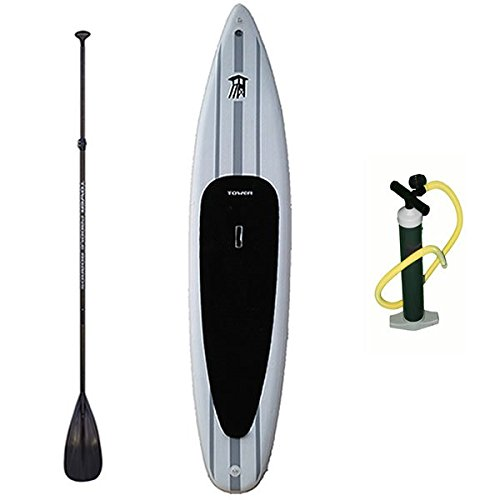 Tower Xplorer Inflatable SUP with Pump and 3-pc Adjustable Paddle