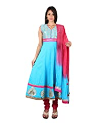 PurpleYou Women's Cotton Anarkali Salwar Suit - B010080ODO