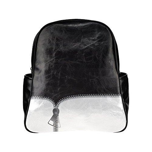 HuaT Zipper Teeth Black Multi Pocket Backpack (Honda Repsol Jacket compare prices)