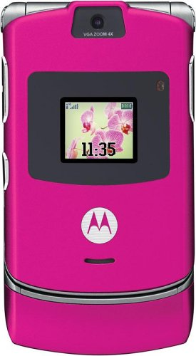 Motorola V3 Sim Free Mobile Phone - Bubble Gum Pink